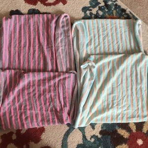 Two striped infinity scarves from GAP